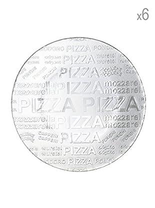 Set 6 Piatti Pizza Trasparenti 35 cm
