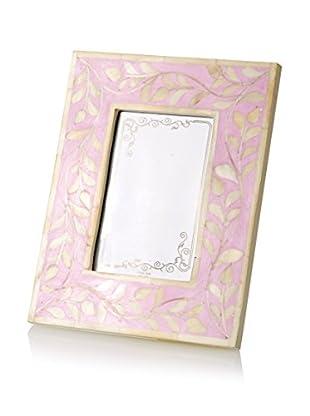 Bethel International Bone Inlaid Photo Frame (Pink)