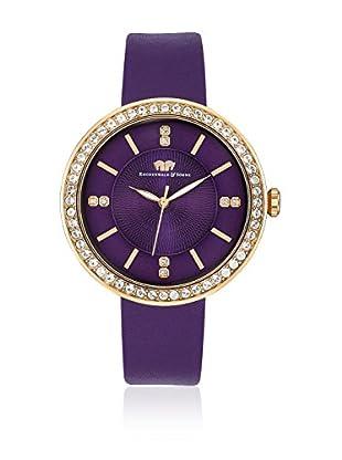 Rhodenwald & Söhne Reloj con movimiento cuarzo japonés 10010097 Violeta 38 mm