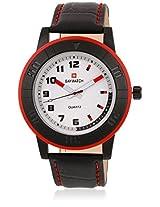 10017 Black/White Analog Watch
