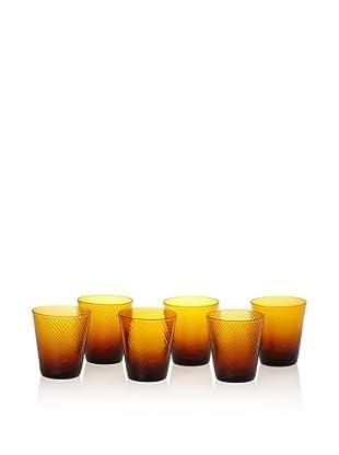 Impulse! Set of 4 Roma Rocks Glasses, Amber, 11-Oz.