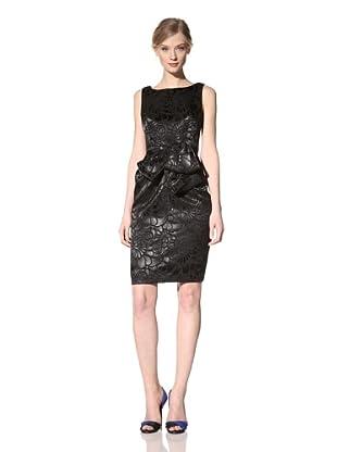 Carmen Marc Valvo Women's Brocade Cocktail Dress (Black)