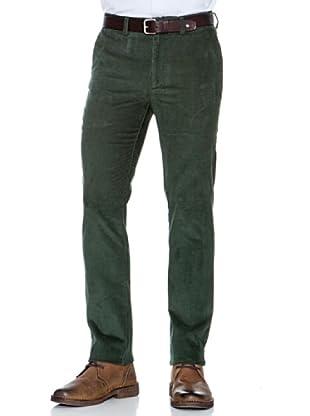 Dockers Pantalón Ajustado de Pana (Verde Oscuro)