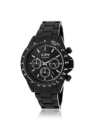a_line Women's 20050-BK Amore Chronograph Black Aluminum Watch