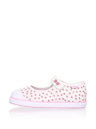 Pablosky Kid's Mary Jane Sneaker (White)