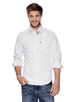 Abercrombie & Fitch Hemd Classic (weiß / grau)