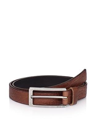 Michael Kors Men's Croc-Embossed Belt (Luggage)