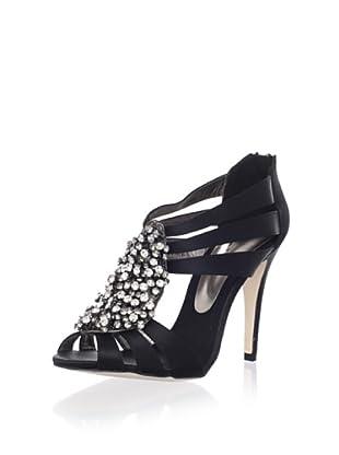 Bourne Women's Leigh T-Strap Sandal (Black)