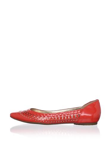 Belle by Sigerson Morrison Women's Valen Flat (Tangerine Patent)