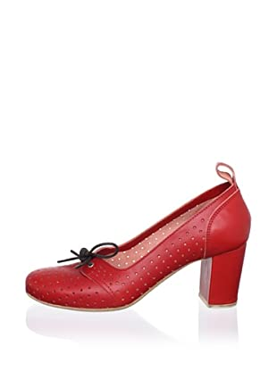 Swedish Hasbeens Women's Margot Laced Pump (Red)