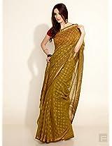 Khari Print Silk Cotton Maheswari Sari