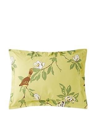 Elsie Green Happy Bird Standard Sham, Green