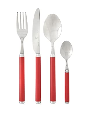 Lebrun 24-Piece Azale Classic French-Style Cutlery Set (Red)