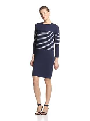 SVEE Women's Striped Dress (Navy/White)
