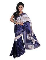 Parichay Women's Silk Saree(Dark Blue)