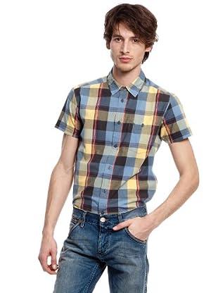 Wrangler Camisa Jojoba (Azul / Amarillo)
