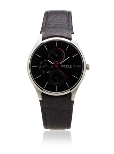Johan Eric Men's JE4002-04-007 Streur Black Dial Leather Watch