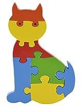 Skillofun Wooden Take Apart Baby Puzzle Large -Cat, Multi Color