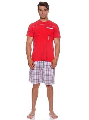 Basket Pijama Cro.Tapet.Bordado (Rojo)