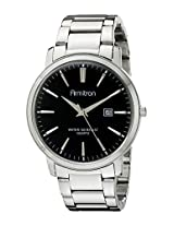 Armitron Men's 20/5032BKSV Analog Display Japanese Quartz Silver Watch