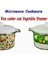 Saleshop365 Microwave Cooker - Rice Cooker / Vegetable Steamer