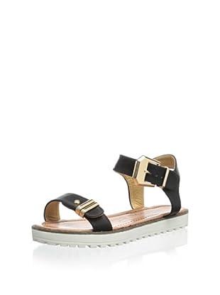 Modern Rush Women's Alor Ankle-Strap Sandal (Black)