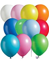 Tiger 50029 Plain Large Balloon Multicolor (Pack of 50)