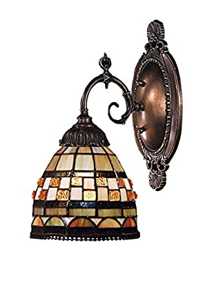 Artistic Lighting Mix-N-Match 1-Light Tiffany LED Wall Sconce, Gold/Bronze