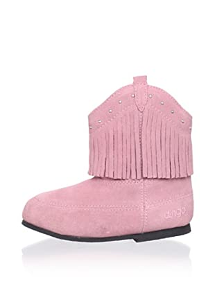 Dingo Kid's Soft Boot with Fringe (Pink)