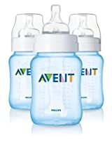 Philips AVENT 9 Ounce BPA Free Bottles - Blue