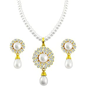 Pearl Necklace Set By Trendy Souk