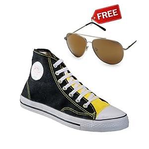 Yepme Black Canvas Shoes