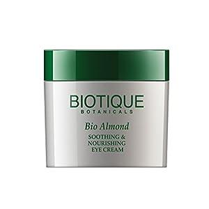 Biotique Bio Almond Soothing & Nourishing Eye Cream, 15G