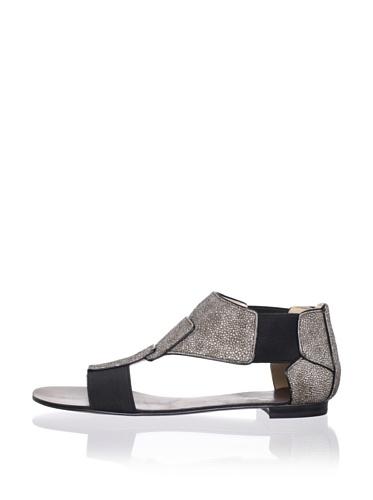 Jean Michel Cazabat Women's Tamika Flat Sandal (Taupe/Black)