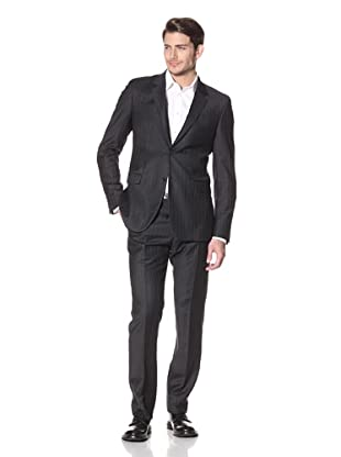 Calvin Klein Collection Men's Bowery Two Button Notch Suit (Medium Gray)