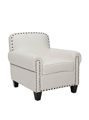 Safavieh Mercer Collection Abby Linen Club Chair (White/Espresso)
