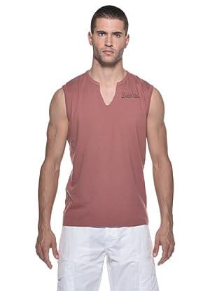 Datch Camiseta SM Cuello V Logo (Marrón)