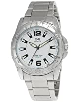 Q&Q Analog White Dial Men's Watch - Q710N211Y