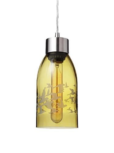 Inhabit Reclaimed Bottle Pendant Light (Flock)