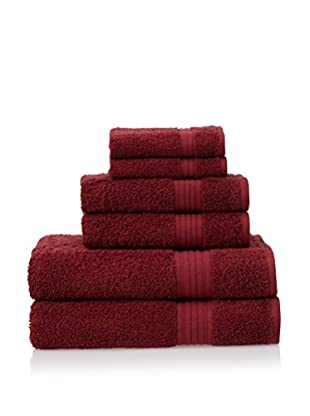 Chortex 6-Piece New Savannah Towel Set, Claret