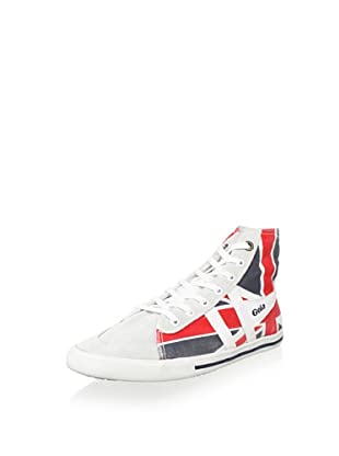 Gola Men's Quota High Union Jack Canvas Mid-Top Sneaker (White/Navy/Red)