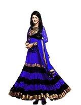 Clickedia Women Sushmita blue Dress Material