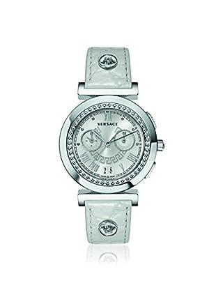 Versace Women's VA9020013 Vanity Chronograph White Leather Watch