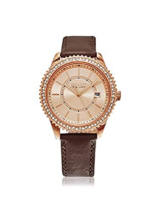 SO&CO Women's 5246.2 Uptown Brown/Rose Gold-Tone Leather Watch