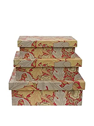 Three Hands Set Of 3 Wood Shoe Boxes