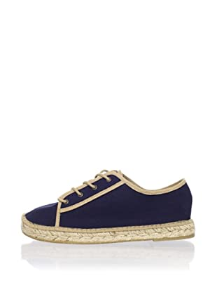 André Assous Women's Tami Sneaker with Espadrille Bottom (Navy)