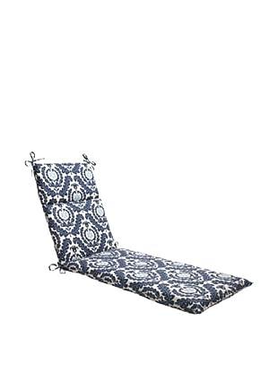 Waverly Sun-n-Shade Meridian Pool Chaise Lounge Cushion (Navy/Aqua/Cream)