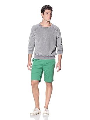 Slate & Stone Men's Turan Garment Washed Pique Sweatshirt (Washed Blue)
