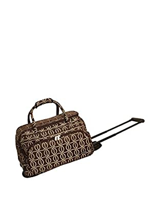 Jenni Chan Links Deluxe Carry-All Rolling Duffel, Brown