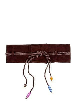 Caramelo Cinturón Terciopelo (Marrón Medio)